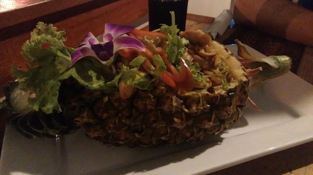 Pineapple fried rice!