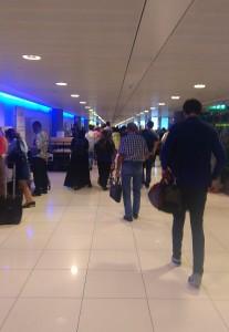 Crowded Abu Dhabi Airport