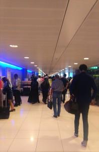 Cramped Abu Dhabi Airport