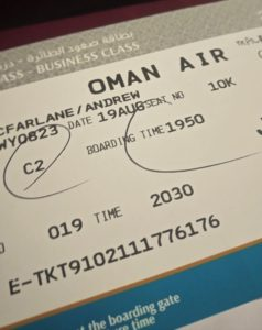 Oman Air Boarding Pass