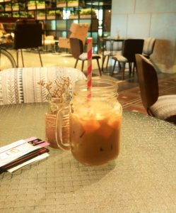 Delicious ice latte!