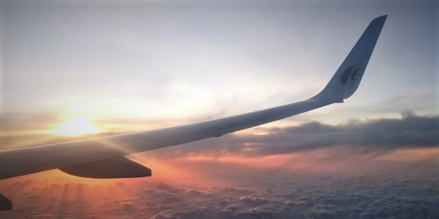 Up in the air!