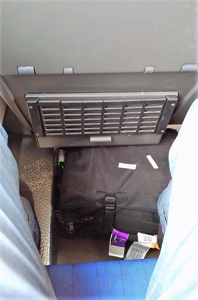 On-board luggage storage...