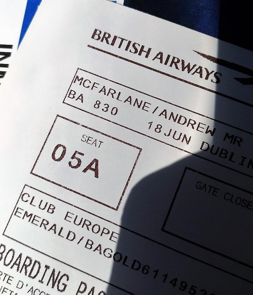 Upgrade boarding pass...