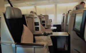Malaysia Airlines' Business Cabin