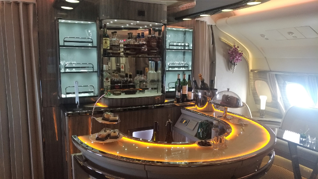 The famous Emirates' on-board bar!