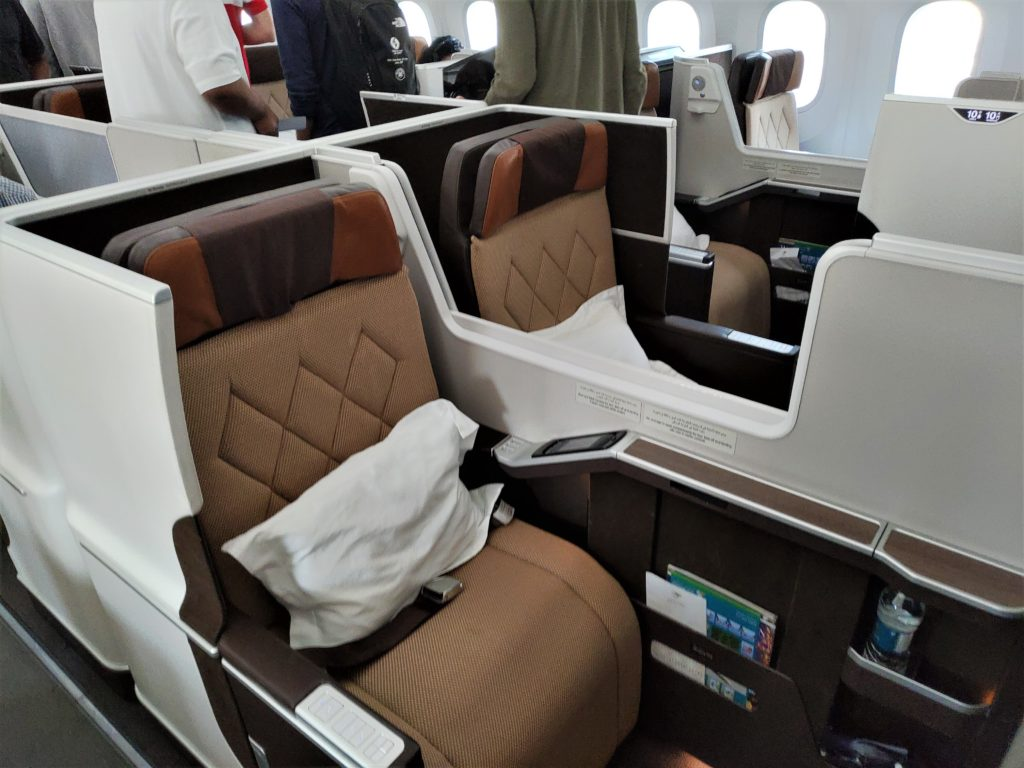 Oman Air 787 Business Cabin