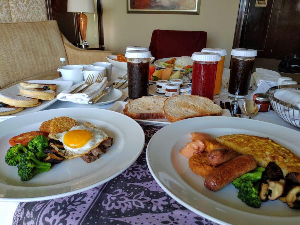 Shangri-La KL Breakfast in-room